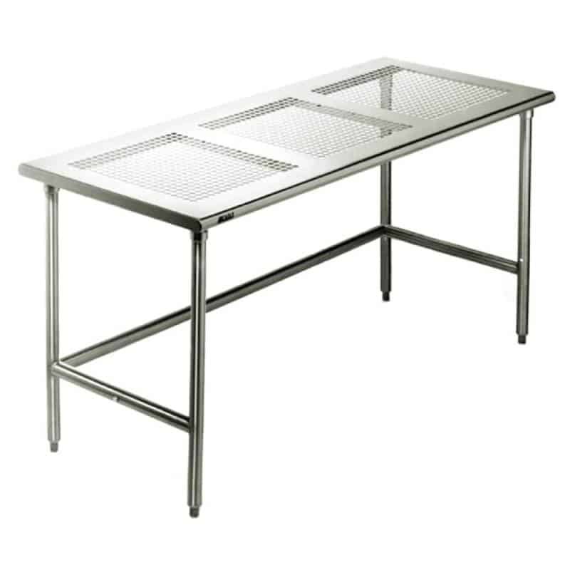 Stainless Steel Work Table - Perforated Top